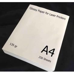 گلاسه لیزری 135 گرم 250 برگی A4