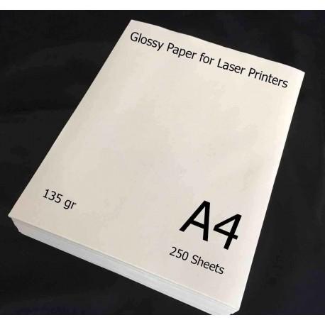 گلاسه لیزری 135 گرم A4