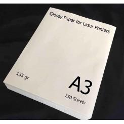 گلاسه لیزری 135 گرم 250 برگی A3