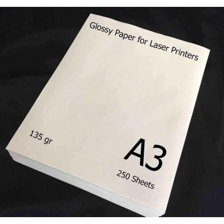 گلاسه لیزری 135 گرم A3