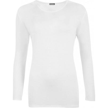 تی شرت سابلیمیشن سفید آستین بلند