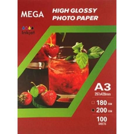 فتوگلاسه 200 گرم A3 - Mega