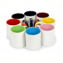 لیوان داخل و دسته رنگی