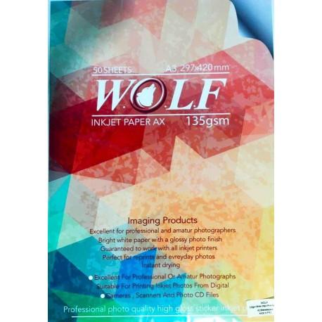 فتوگلاسه چسبدار 135 گرم A4 - Wolf