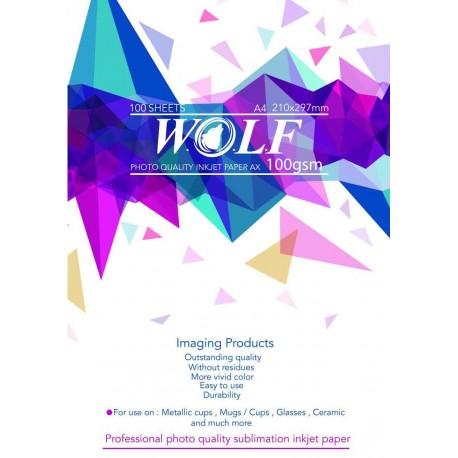 کاغذ سابلیمیشن 100 برگی A4- Wolf