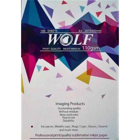 کاغذ سابلیمیشن 100 برگی A3- Wolf