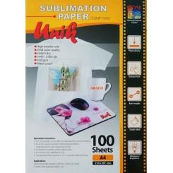 کاغذ سابلیمیشن 100 گرم A4 - Unik