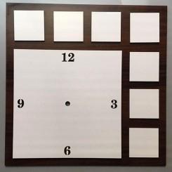 ساعت مربع 8 تیکه سابلیمیشن