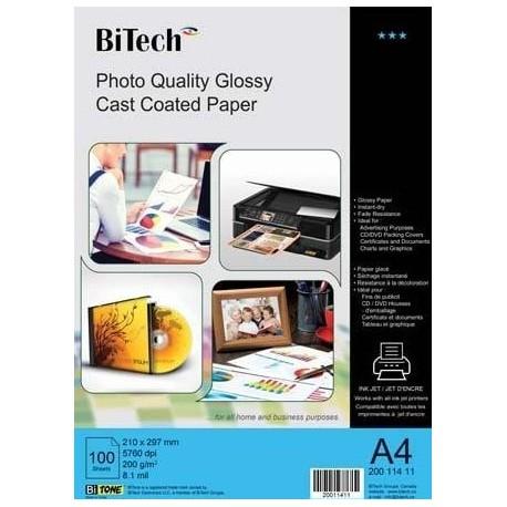 گلاسه 200 گرم A4 - Bitech