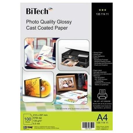 گلاسه 135 گرم A4 - Bitech