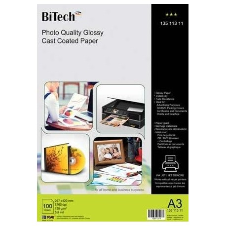 گلاسه 135 گرم A3 - Bitech