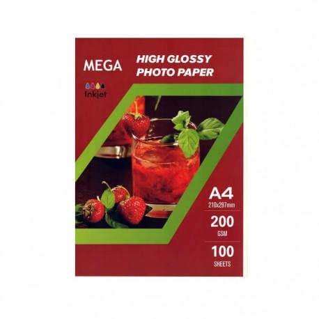 فتوگلاسه 200 گرم A4 - Mega