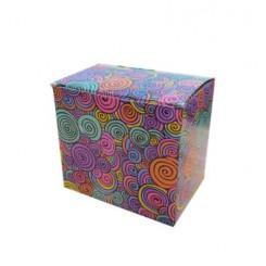 جعبه لیوان طرحدار رنگی