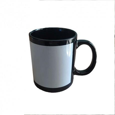 لیوان دسته و داخل مشکی جلو چاپ با جعبه