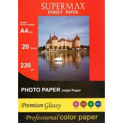 فتوگلاسه 220 گرم A4 - Supermax