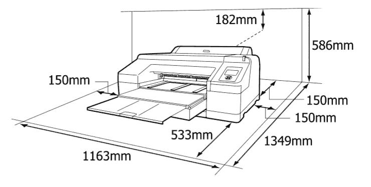 ابعاد قرارگیری دستگاه در محیط